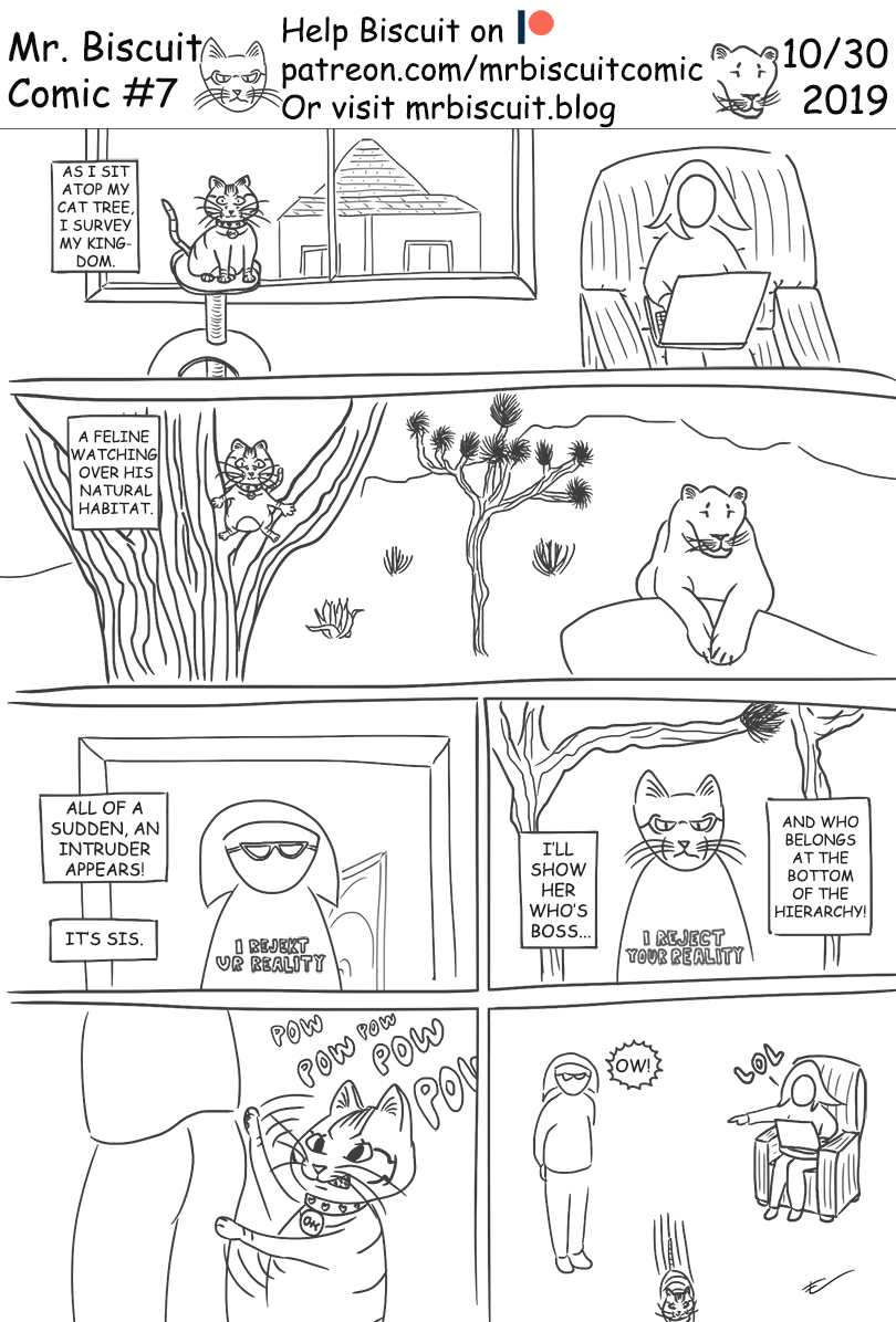 Mr Biscuit Comic #7: Respect the hierarchy